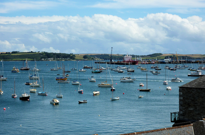 The Sea Views from Boscawen Holiday Apartment Falmouth Cornwall